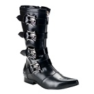 BROGUE-107 Demonia Gothic Skull Buckle Boots