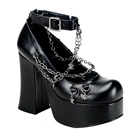 CHARADE-28 Gothic Ankle Strap Platforms
