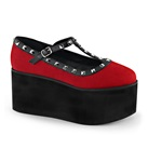CLICK-07 Studded Canvas Platform Shoes