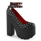 Demonia CRAMPS-06 Black Studded Platform Shoes