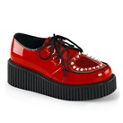 CREEPER-108 Heart Studded Creeper Shoes