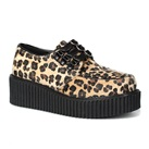 CREEPER-112 Leopard Fur Creeper Shoes