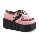 CREEPER-206 Pink Studded Creeper Shoes