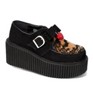 CREEPER-213Black Suede Creeper Shoes