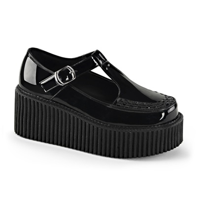 CREEPER-214 Platform T-Bar Creeper Shoes