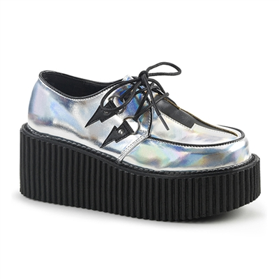 CREEPER-218 Silver Lightning Creeper Shoes