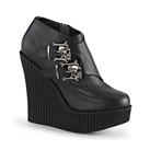 CREEPER-306 Skull Buckle Wedge Creepers