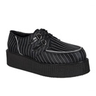 CREEPER-401 Black Pinstripe Creepers