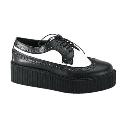 Mens Wingtip Creeper Shoes - Demonia Shoes