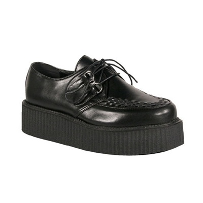 V-CREEPER-502 Black Creeper Shoes
