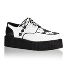 V-CREEPER-510 White Argyle Creeper Shoes
