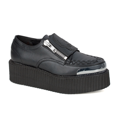 V-CREEPER-510 Black Skull Creeper Shoes