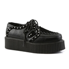 V-CREEPER-535 Studded Black Creeper Shoes