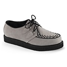 CREEPER-602 Gray Suede Creeper Shoes