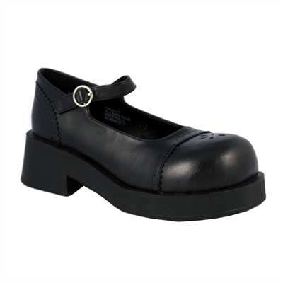 CRUX-07 Black Mary Jane Shoes