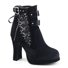 CRYPTO-51 Buckle Corset AnkleHigh Goth Boots
