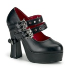 DEMON-16 Double Strap Mary Janes