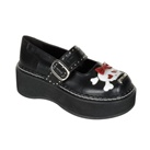 EMILY-221 Black Mary Jane Shoes