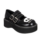 EMILY-222 Black Mary Jane Shoes