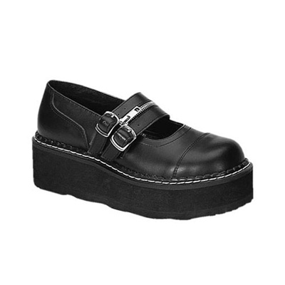 EMILY-306 Black Mary Jane Shoes