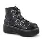 EMILY-315 Heart Studded Ankle Boots