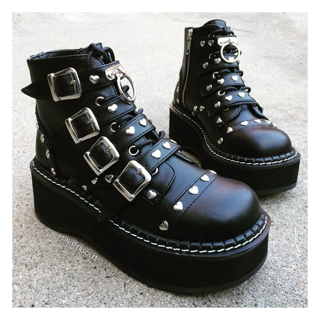 Demonia Emily 315 Women S Gothic Ankle Boots Demonia Shoes