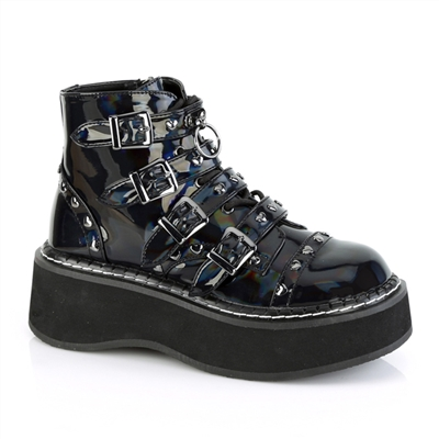 EMILY-315 Heart Studded Hologram Boots