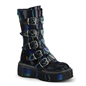EMILY-330 Black Hologram Buckle Boots