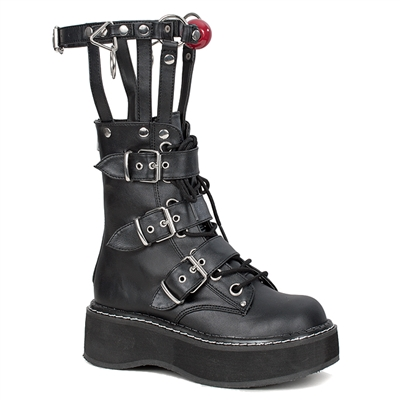 EMILY-355 Caged Strap Ankle Boots