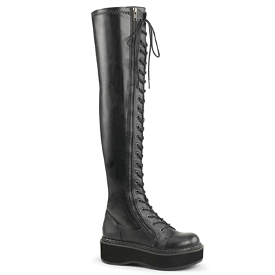 EMILY-375 Black Over-the-Knee Boots