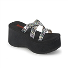 FUNN-19 Strappy Holo Wedge Platform Sandals