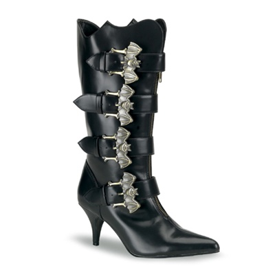 FURY-107 Bat Buckle Gothic Boots