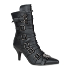 FURY-110 Bat Buckle Ankle Boots