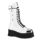 GRAVEDIGGER-14 Metal Toe White 14-Eye Boots