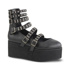 GRIP-31 Studded Strappy Platform Shoes