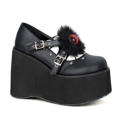 KERA-11 Furry Eyeball Platform Shoes