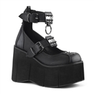 KERA-12 Buckled Wedge Platform Shoes
