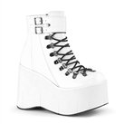 KERA-21 White Wedge Platform Boots