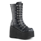 KERA-50 Black Wedge Platform Boots