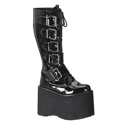 Demonia Platform Gothic Knee High Buckle Boots Demonia