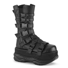 NEPTUNE-210 Cyber Buckled Platform Boots