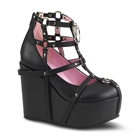 POISON-25-1 Caged Wedge Ankle Boots
