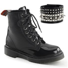 RIVAL-106 Womens Black 8-eye Combat Boots