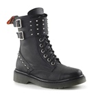 Womens RIVAL-309 Studded Combat Boots