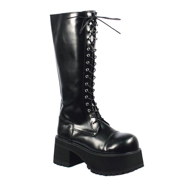Demonia Ranger 302 Lace Up Gothic Platform Boots Demonia