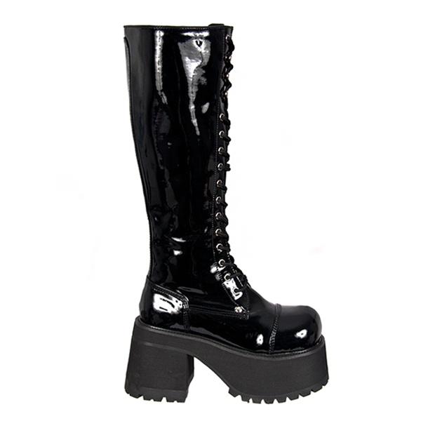 Knee High Platform Combat Boots in
