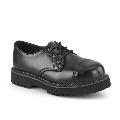 RIOT-03 Steel Toe Black Leather Shoes