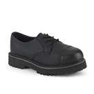 RIOT-03 Black 3-Eye Steel Toe Black Shoes