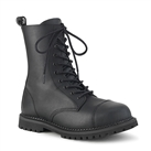 RIOT-10 Black Demonia 10-Eye Combat Boots