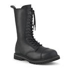 RIOT-14 Black Demonia 14-Eye Combat Boots